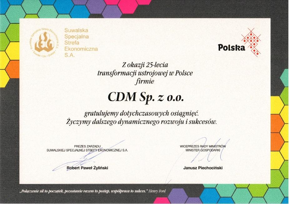 Gratulationen Vom Polnischen Wirtschaftsminister Cdm Holzfenster